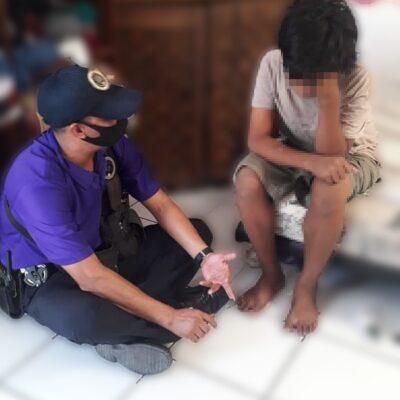 Rescatan a niño que huyó de casa en Cancún