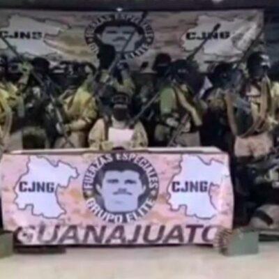 VIDEO | GUANAJUATO, DE UN CÁRTEL A OTRO: Reaparece 'Grupo de Élite' del CJNG y agradece la detención de 'El Marro'; aseguran que ellos mantendrán la tranquilidad