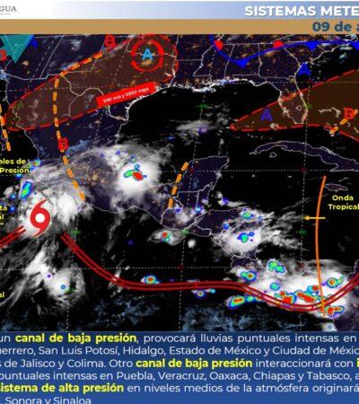 PRONÓSTICO DEL CLIMA: Tiempo caluroso, con posibles lluvias en Quintana Roo