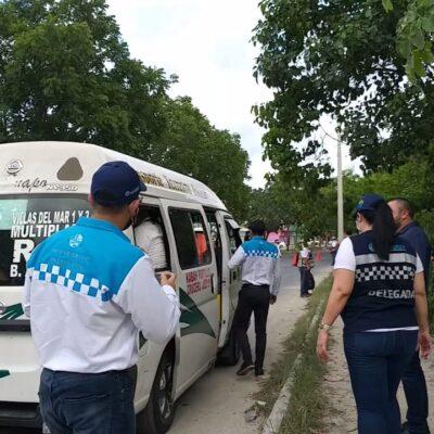 MONTAN OPERATIVO PARA FRENAR EL COVID-19 EN EL TRANSPORTE PÚBLICO: Sancionan a choferes por incumplir medidas sanitarias contra el virus y bajan a pasajeros en Cancún