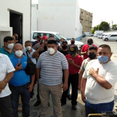 Se manifiestan policías ministeriales para exigir homologación de salarios en Cancún