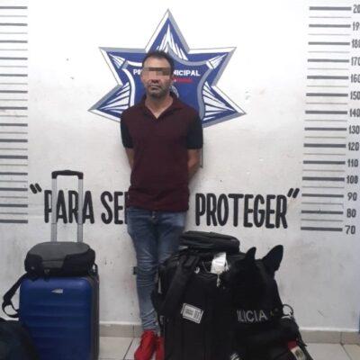Detienen a sujeto con droga en Playa del Carmen