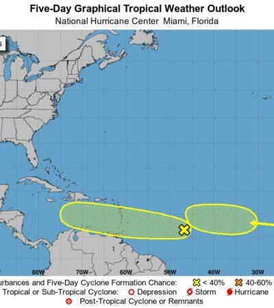 PRONÓSTICO DEL CLIMA: Continúan las lluvias aisladas en Quintana Roo; monitorean disturbios en el Atlantico
