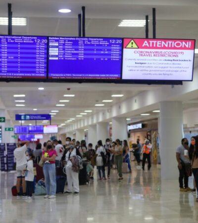Elevada actividad del aeropuerto cancunense este fin de semana con cerca de 500 vuelos