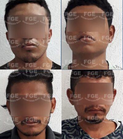 Capturan a ocho supuestos integrantes de 'Los Panteras' con armas y droga en la zona de invasión In House, en Playa del Carmen