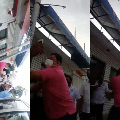 Surge nuevo video de agresión de taxistas a turistas