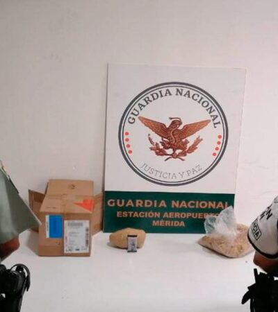 Decomisan en Mérida droga escondida en carne seca
