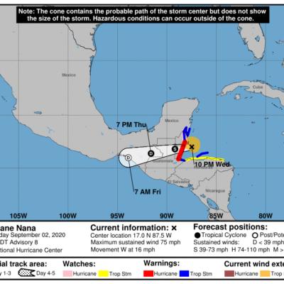 'NANA' SE CONVIERTE EN HURACÁN ANTES DE GOLPEAR A BELICE: Se esperan lluvias en el sur de Quintana Roo, pero no mayor peligro