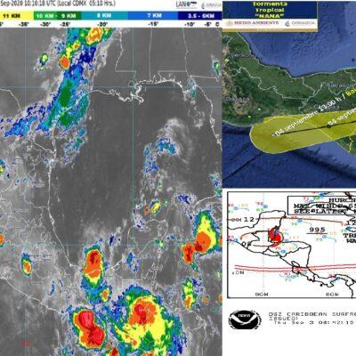 PASA LA ALERTA PARA EL SUR DE QR: 'Nana' se degrada a tormenta tropical en Belice