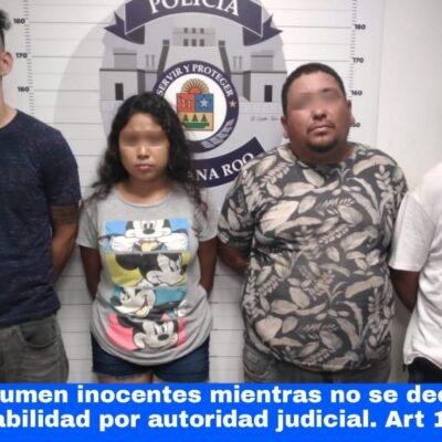 Detienen a cuatro por portación de arma de fuego en Cancún