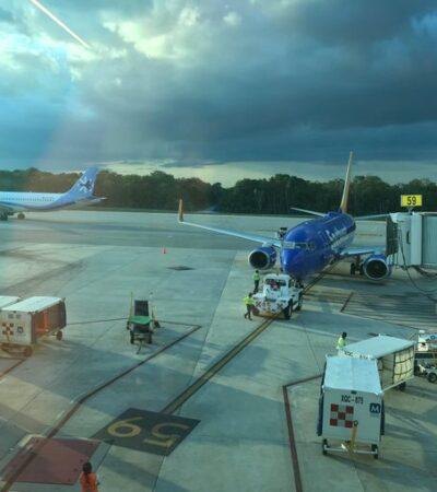 40 OPERACIONES MENOS QUE AYER: Serán 174 operaciones en el aeropuerto de Cancún
