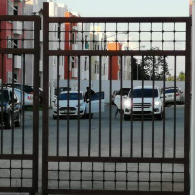 OPERATIVO EN MISIÓN DE LAS FLORES: Ministeriales accionan sus armas, previo a cateo de domicilio en Playa del Carmen