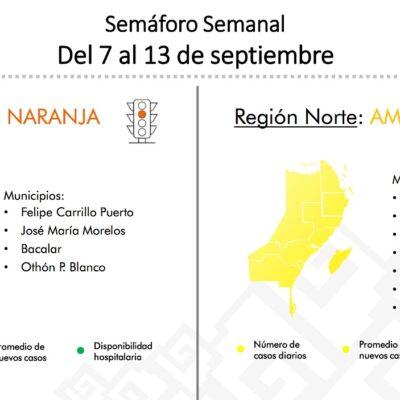 CAMBIA LA ZONA NORTE AL 'AMARILLO'; LA ZONA SUR SEGUIRÁ EN 'NARANJA': Anuncia Gobernador Semáforo Epidemiológico bicolor en QR para la próxima semana ante descenso de casos de COVID-19