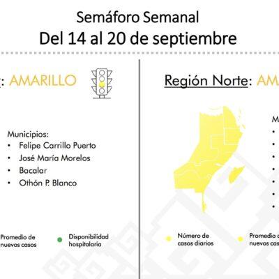 TODO QUINTANA ROO ESTARÁ EN AMARILLO: Confirma Gobernador cambio en el Semáforo Epidemiológico que amplía reapertura a la Zona Sur del estado
