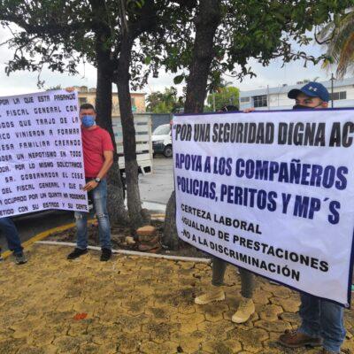 SIGUE LA PROTESTA DE MINISTERIALES EN CHETUMAL: Busca XVI Legislatura solución a conflicto laboral en la Fiscalía