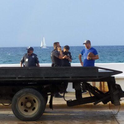 'Perdona' policía en Cozumel a automovilista que iba ebrio; sería de la FGR