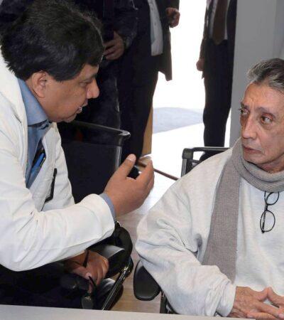 """MARIO VILLANUEVA SE CONTAGIA DE COVID-19: Ex Gobernador pide ser trasladado para que le realicen una tomografía; """"mis pulmones están muy débiles"""", dice"""
