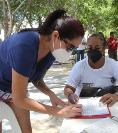 Confían militantes de Morena que en QR se supere meta de firmas para enjuiciar a expresidentes de México