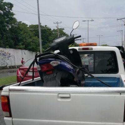 Recuperan una motocicleta con reporte de robo en Cozumel