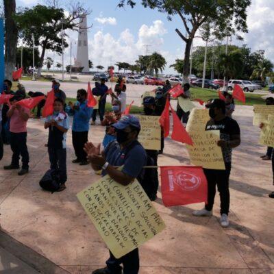 """""""MAYA BALAM PIDE JUSTICIA"""": Se manifiestan habitantes ante parálisis de la mesa de diálogo para resolver conflicto de concesiones e inseguridad"""