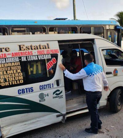 Reforzarán medidas de prevención en el transporte público de Cancún para evitar rebrote de COVID-19