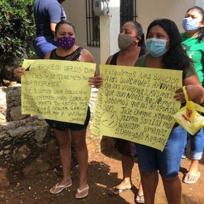Mujeres carrilloportenses se manifiestan en las oficinas de la Secretaría del Bienestar al no ser beneficiadas con programa federal