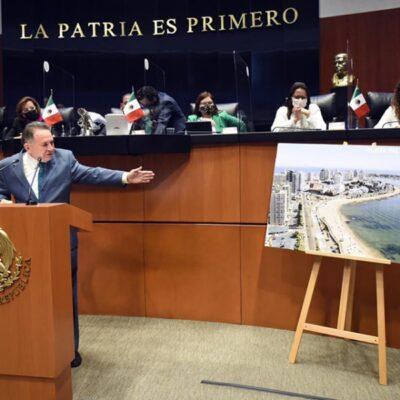 Propone José Luis Pech ampliar los límites costeros para que ciudadanos tengan acceso gratuito y libre a las playas de México
