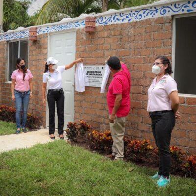 Inauguran los nuevos consultorios de psicología del DIF, construidos con bloques de sargazo en Puerto Morelos