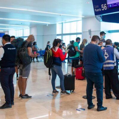Aeropuerto de Cancún  con cerca de 500 operaciones el fin de semana