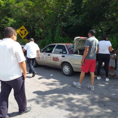 CONFLICTO EN PUERTA ENTRE QR Y YUCATÁN: Retienen a taxis de Tulum en Valladolid