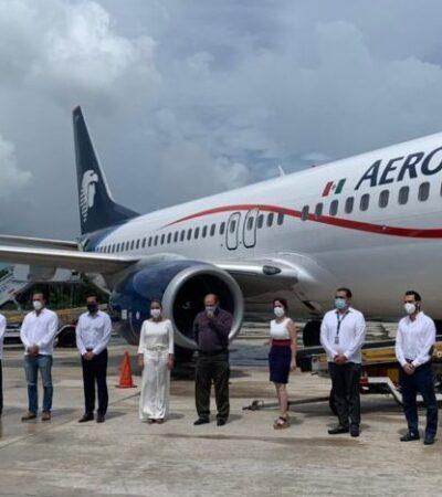 Registra Aeropuerto de Cancún mayor número de operaciones desde abril