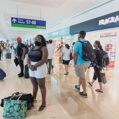 Llega Aeropuerto Internacional de Cancún a los 231 vuelos este viernes