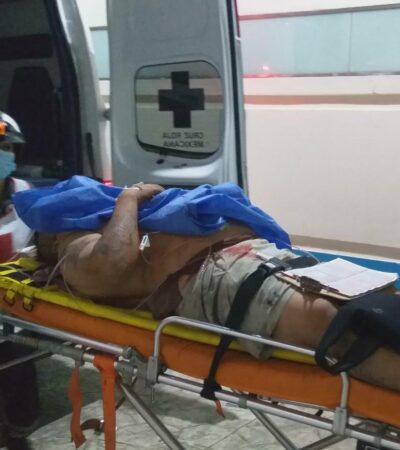 INSEGURIDAD EN LAS CALLES DE CANCÚN: Acuchillan a hombre para asaltarlo en la zona del 'Crucero'