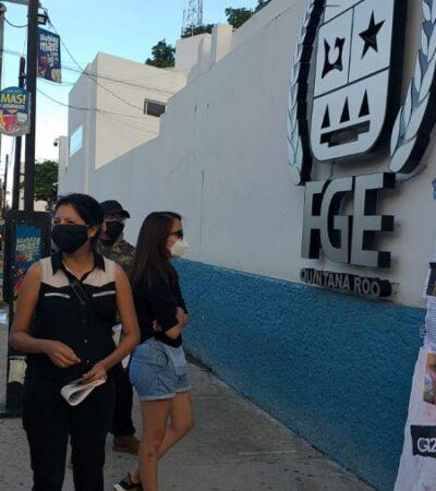 Protestan colectivos contra crímenes de odio y violencia hacia la comunidad LGBT+ en Cancún