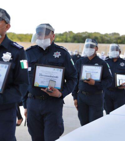 Cancún construye espacio para rendir tributo a policías fallecidos en la pandemia del COVID-19