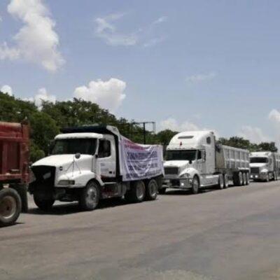 Preocupa a transportistas presencia de sindicatos nacionales que buscan participar en las obras del Tren Maya en QR