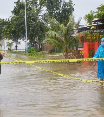 Refuerzan acciones para proteger a la población ante el impacto de la tormenta tropical 'Gamma' en Cozumel