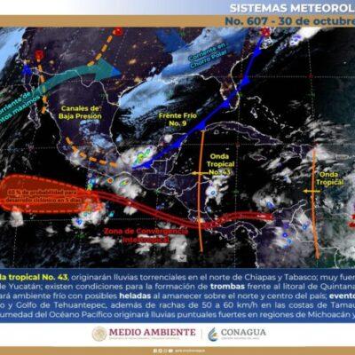 MONITOREO DE CICLONES: Depresión Tropical podría formarse en 36 horas