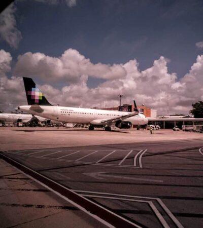 Anuncia Aeropuerto de Cancún 269 operaciones para este lunes, a pesar de la llegada de tormenta tropical