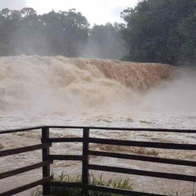 CHIAPAS | Río que nutre a las Cascadas de Agua Azul se desborda por intensas lluvias