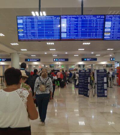 Aeropuerto de Cancún, con 277 operaciones programadas este domingo
