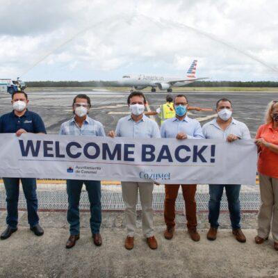Avanza Cozumel en la reactivación económica y turística con la reconexión aérea a Charlotte