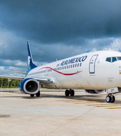 Aeroméxico aumenta oferta aérea entre Campeche y Ciudad de México