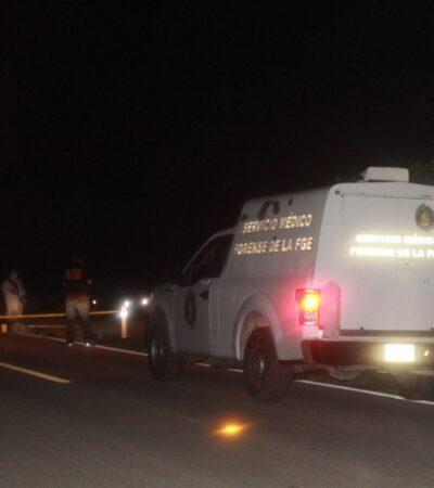 Muere hombre de Felipe Carrillo Puerto al ser atropellado en la carretera a Mérida; el responsable se dio a la fuga