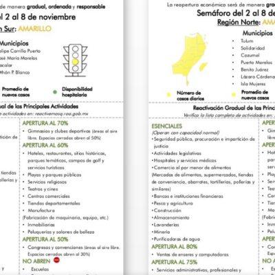 SIGUE COLOR AMARILLO EN TODO QR: Zona Norte, en grave riesgo de regresar al color naranja del Semáforo Epidemiológico