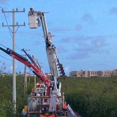No logra CFE restablecer el suministro en buena parte de Cancún
