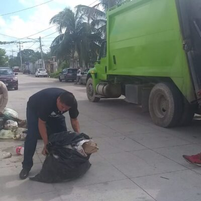 RECOLECCIÓN DE BASURA EN CANCÚN, AL 40% COMO MÁXIMO: A marchas forzadas trabajo de limpieza de Cancún, reconoce Mara Lezama