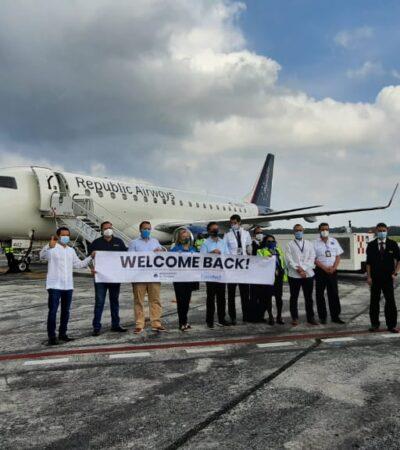 Aeropuerto de Cozumel recibe nuevamente vuelos internacionales tras paso de 'Delta'