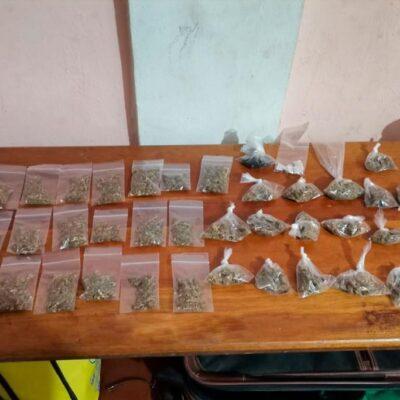 Aseguran drogas y casa cateada en colonia de Chetumal