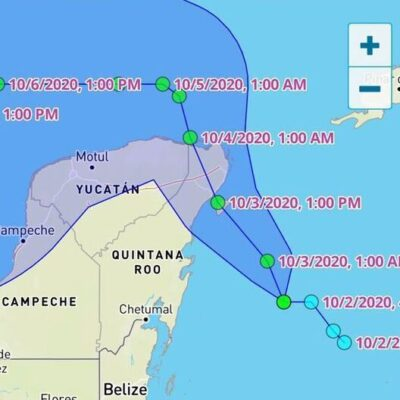 'ALERTA NARANJA' EN EL NORTE DE QR: Prevén que tormenta tropical 'Gamma' toque tierra hacia el mediodía del sábado